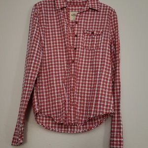 Hollister plaid button down long sleeves